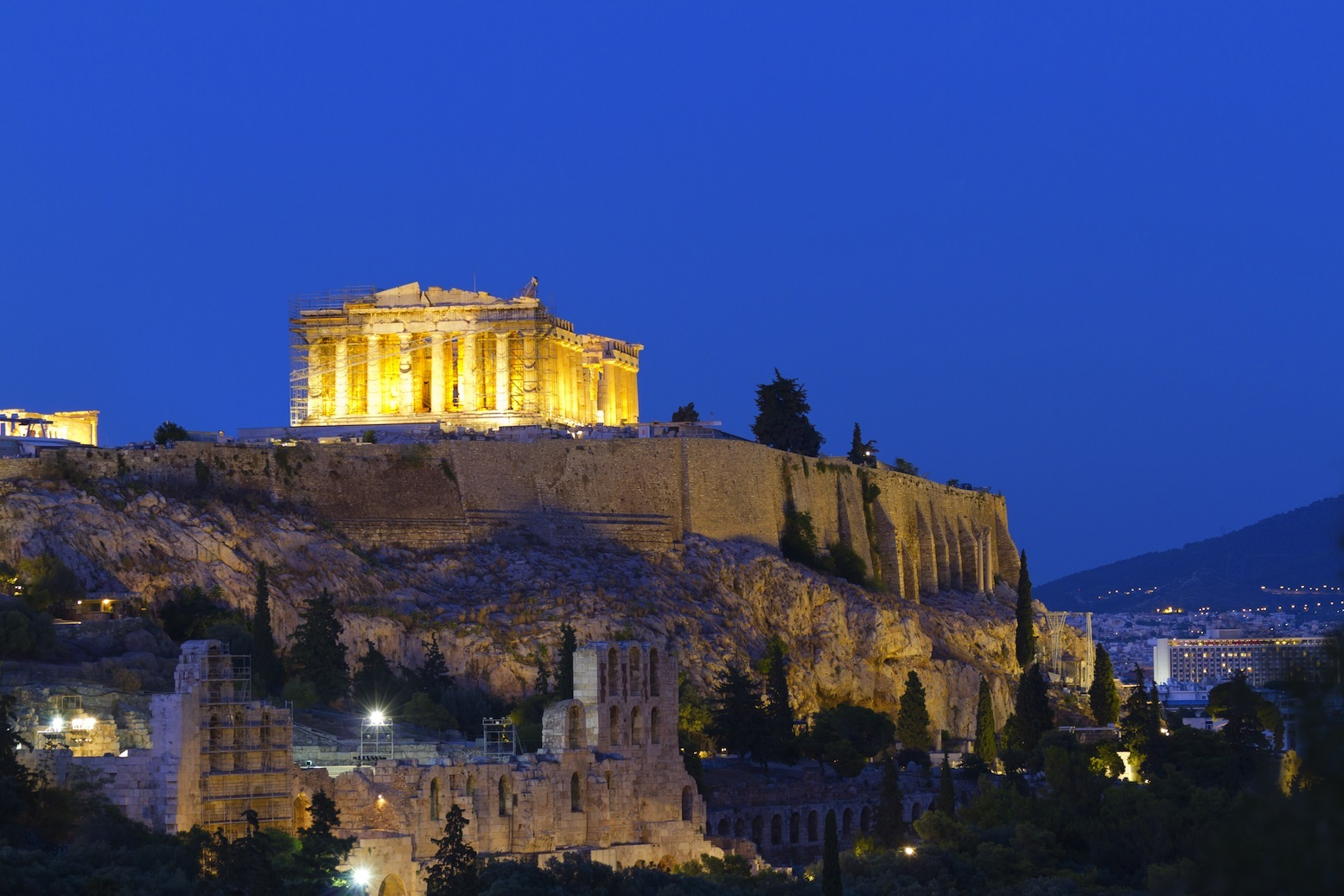 Acropolis Parthenon by night